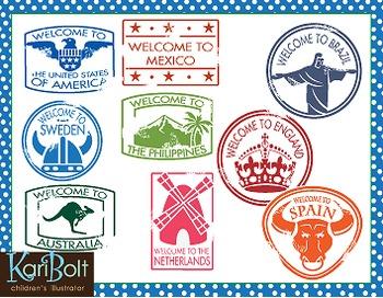 Passport stamp clipart png download Passport Stamps Clip Art png download