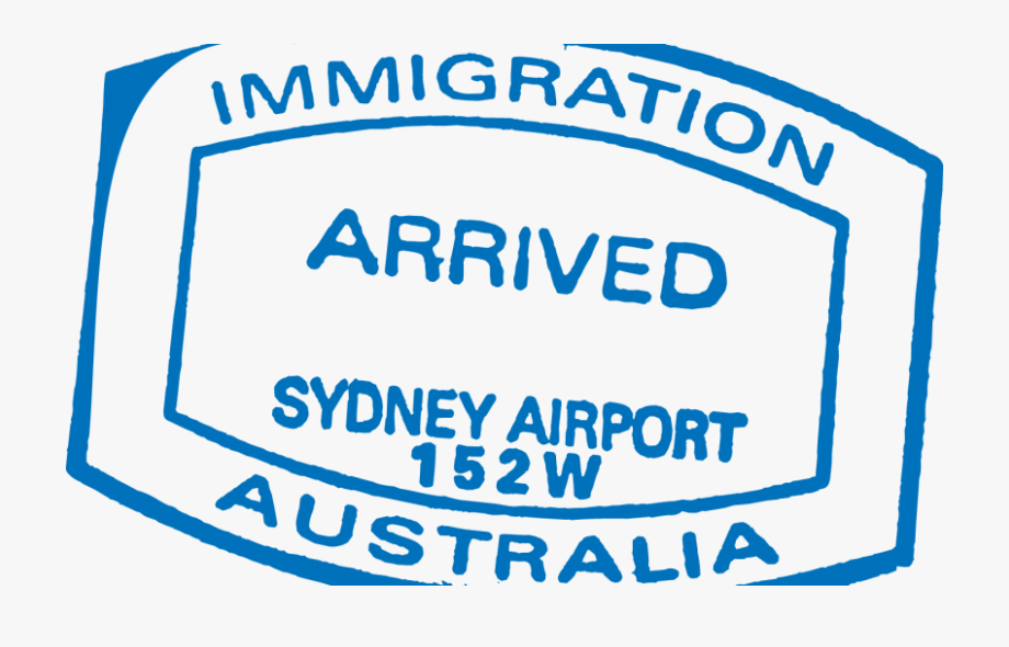 Passport stamp clipart png free Visas And Eligibility - Australia Passport Stamp #2076579 ... png free