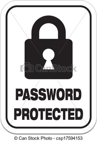 Password security clipart image transparent download Clipart Vector of password protected - alert signs - suitable for ... image transparent download