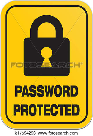 Password security clipart clipart free download Clipart of password protected - yellow signs k17594293 - Search ... clipart free download