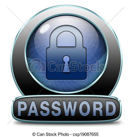 Password security clipart banner freeuse Stock Illustrations of password - Password button data protection ... banner freeuse