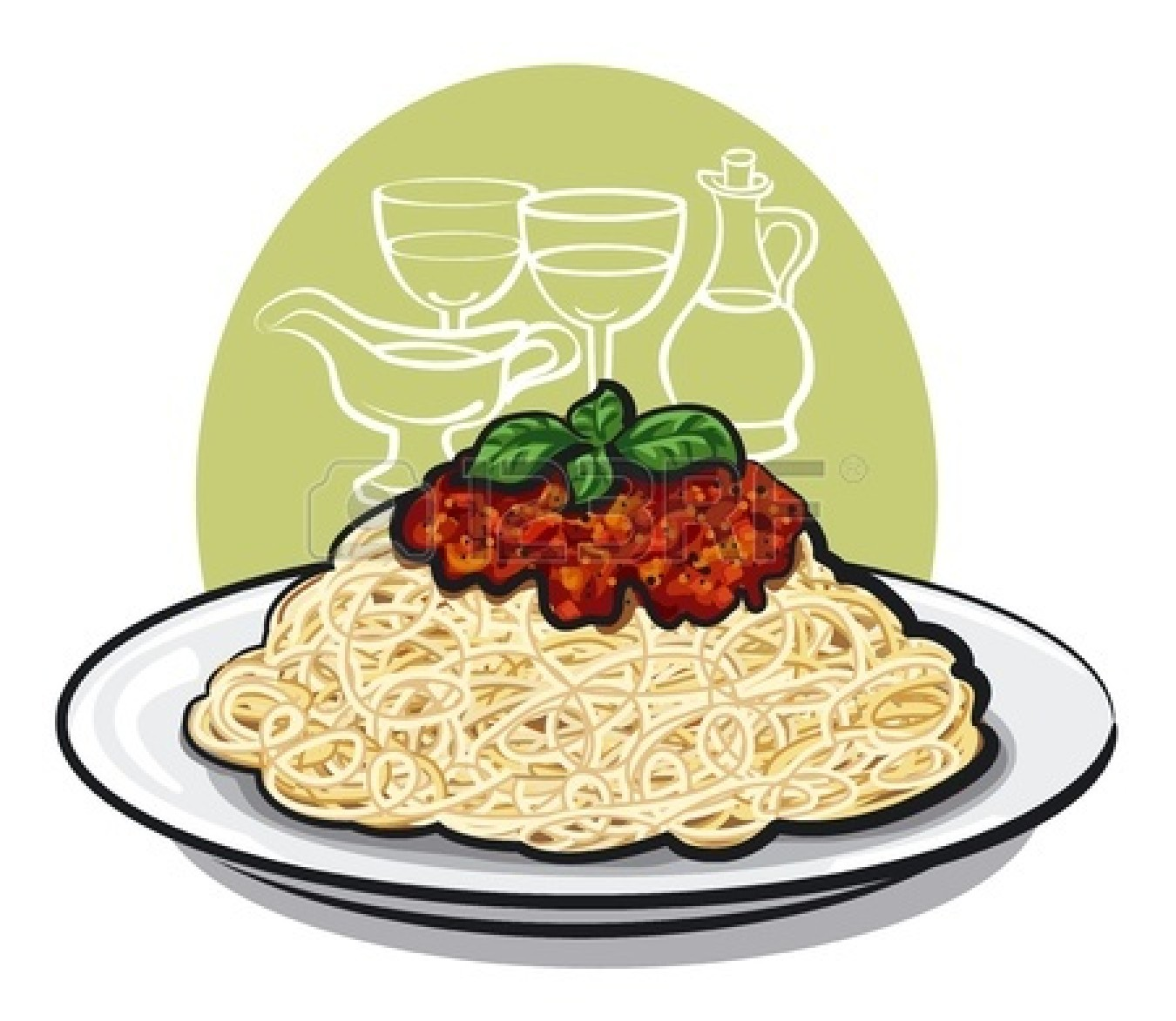 Pasta bowl clipart graphic transparent library Bowl Of Pasta Clipart | Clipart Panda - Free Clipart Images graphic transparent library