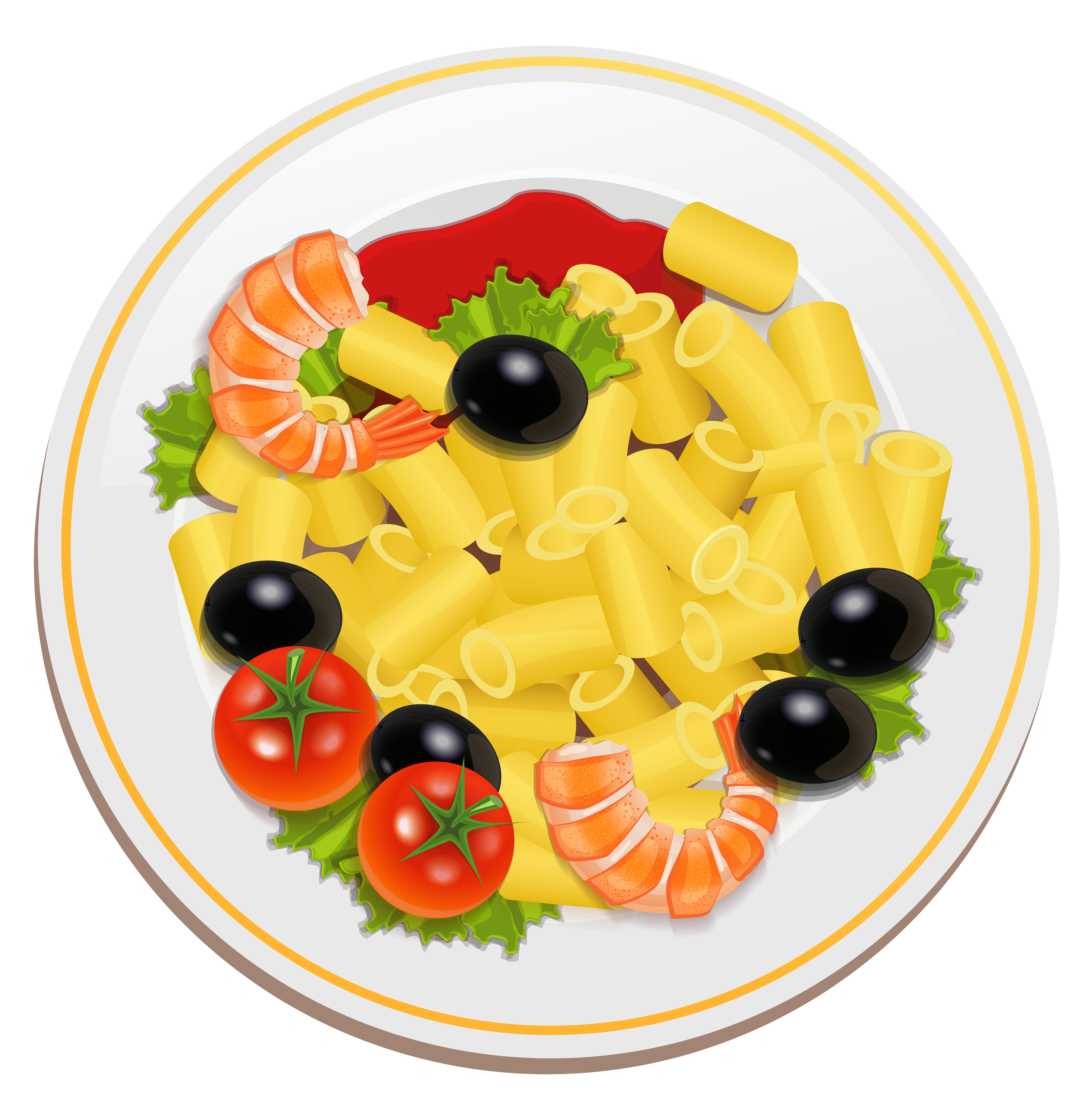 Pasta clipart png graphic stock Pasta with Shrimps PNG Clipart - Best WEB Clipart graphic stock