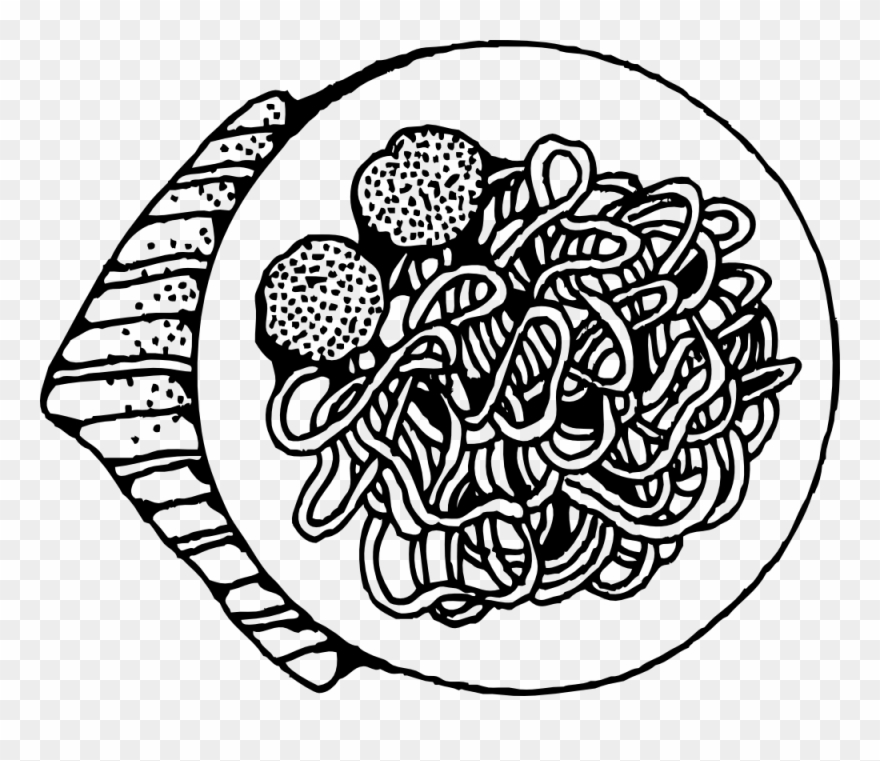 Pasta illustration clipart png black and white download Image For >, Pasta Noodles Clipart - Spaghetti Clip Art ... png black and white download