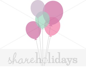 Pastel balloons clipart clip stock Pastel Birthday Ballooons Clipart | Birthday Clipart and Backgrounds clip stock