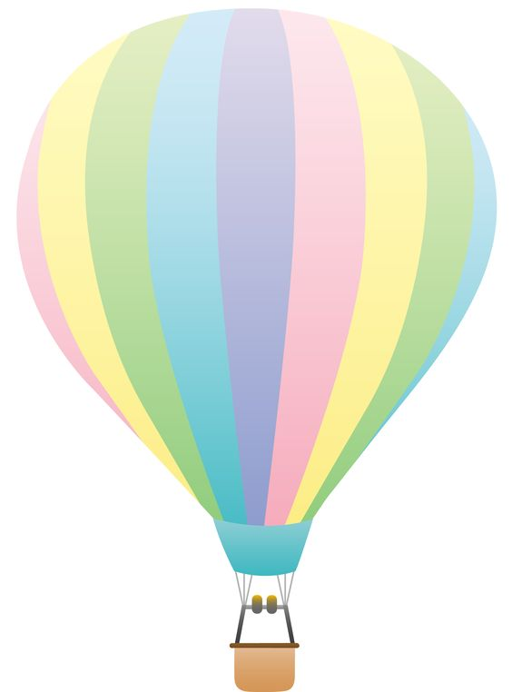 Pastel balloons clipart picture freeuse Hot Air Balloon Clip Art | Striped Pastel Colored Hot Air Balloon ... picture freeuse