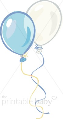 Pastel balloons clipart png royalty free Baby Boy Balloons Clipart - Clipart Kid png royalty free