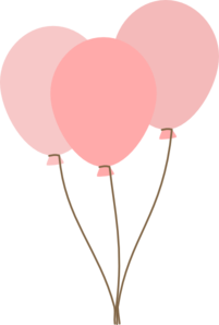 Pastel balloons clipart image transparent library Pink balloons clip art - ClipartFest image transparent library