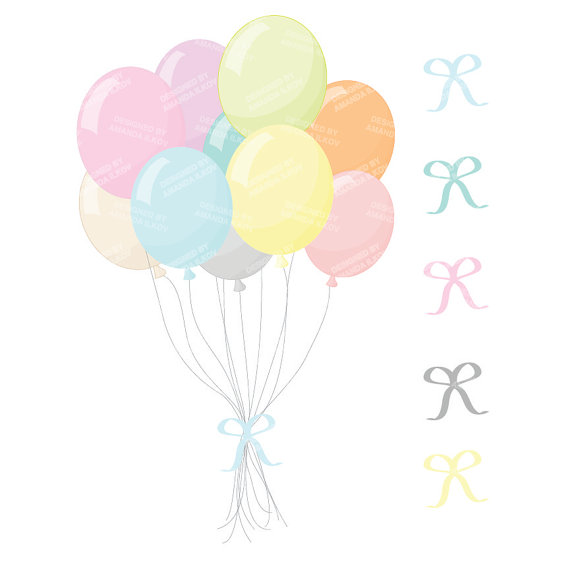 Pastel balloons clipart clip art library library Pastel balloons clipart - ClipartFest clip art library library