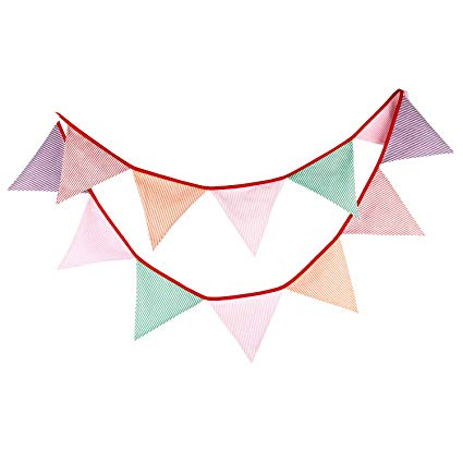 Pastel banner clipart vector library library Amazon.com: Pastel Party Decoration Pink Green Purple Stripe ... vector library library