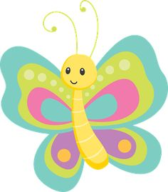 Pastel butterfly clipart picture library Butterfly Clipart - beautiful pastel colored butterflies and ... picture library