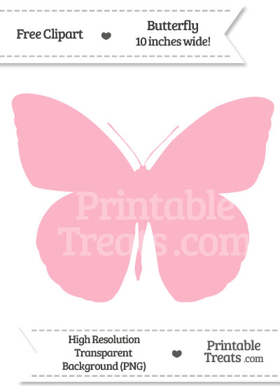 Pastel butterfly clipart clip art free Pastel Light Pink Butterfly Clipart — Printable Treats.com clip art free