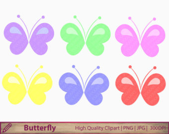 Pastel butterfly clipart vector freeuse download Pastel clipart png – Etsy vector freeuse download