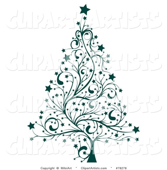 Pastel christmas tree clipart vector transparent stock Tree Clip Art Black and White | Larger Preview: Vector Christmas ... vector transparent stock