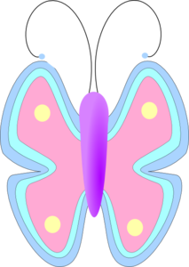 Pastel clipart svg freeuse library Pastel Butterfly Clip Art at Clker.com - vector clip art online ... svg freeuse library