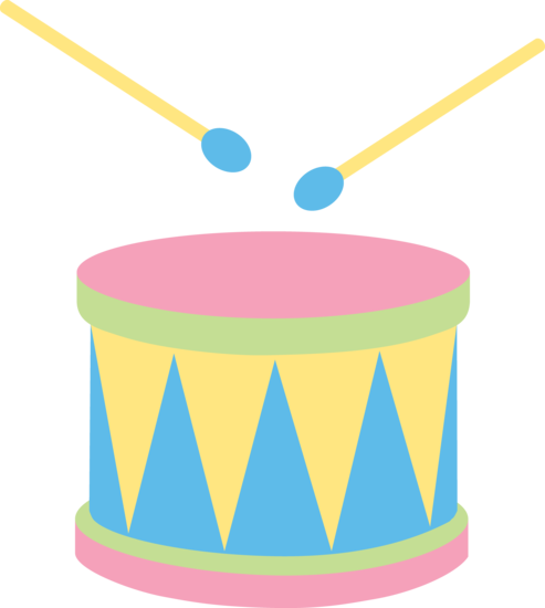 Pastel clipart graphic royalty free download Pastel Kids Drum - Free Clip Art graphic royalty free download