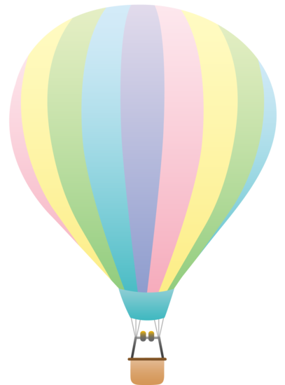 Pastel clipart graphic download Striped Pastel Colored Hot Air Balloon - Free Clip Art graphic download