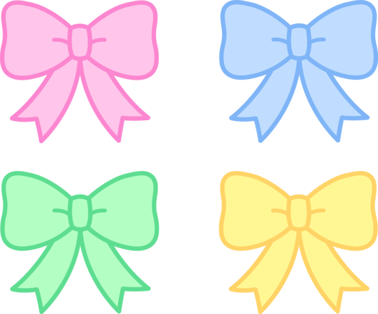 Pastel clipart banner black and white download Cute Pastel Holiday Bows - Free Clip Art banner black and white download