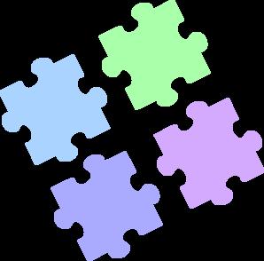 Pastel clipart jpg transparent library Jigsaw Puzzle - Pastel Pieces Apart Clip Art at Clker.com - vector ... jpg transparent library