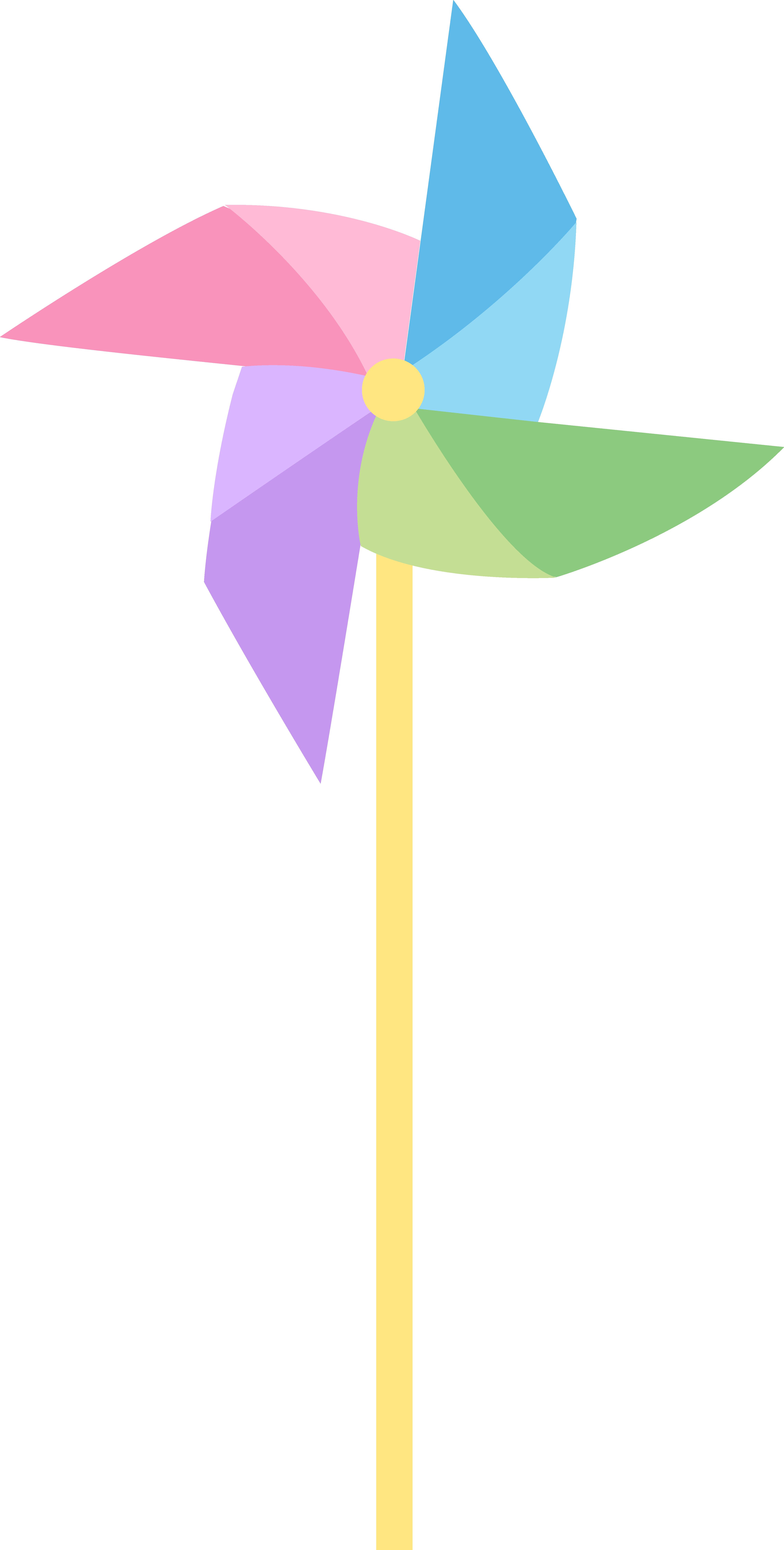 Pastel clipart clip art transparent download Pastel Colored Pinwheel - Free Clip Art clip art transparent download