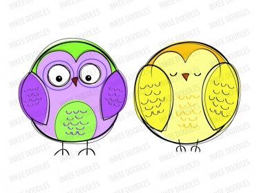 Pastel clipart transparent background vector library library Owls Clip Art Set - cute cartoon owl pictures, baby shower owl ... vector library library