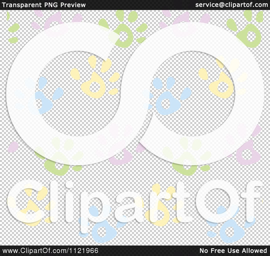 Pastel clipart transparent background png black and white library Cartoon Of A Seamless Pastel Hand Print Background Pattern ... png black and white library