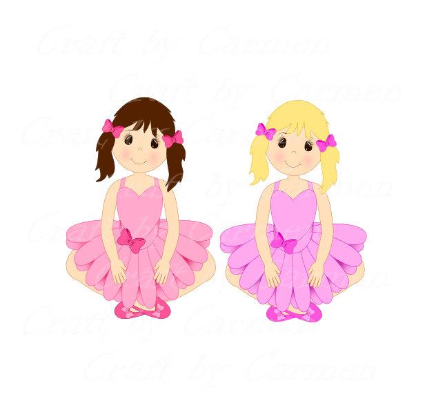 Pastel clipart transparent background image black and white Doll clip art, girl, little girl, ballerina,graphic design ... image black and white