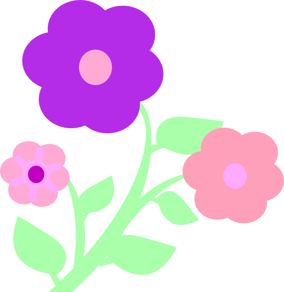Pastel flowers clipart banner freeuse download Pastel Flowers Clip Art at Clker.com - vector clip art online ... banner freeuse download