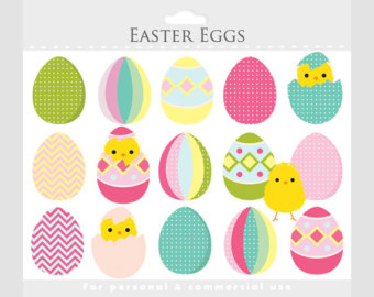 Pastel easter egg clipart banner free download Easter egg clipart   Etsy banner free download