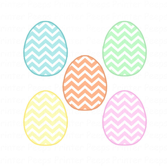 Pastel easter egg clipart graphic royalty free Egg Clip Art Chevron Egg Clipart Cute Easter Clip Art Digital graphic royalty free