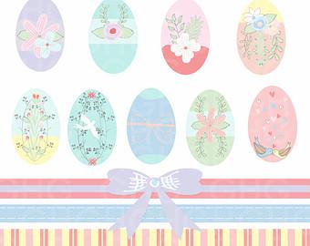 Pastel easter egg clipart picture transparent stock Egg clip – Etsy picture transparent stock