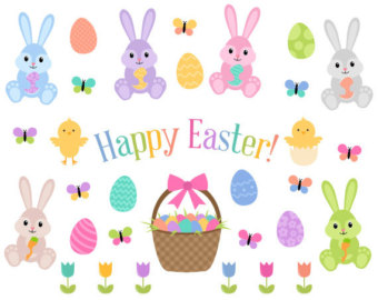 Pastel easter egg clipart picture library stock Pastel easter eggs   Etsy picture library stock
