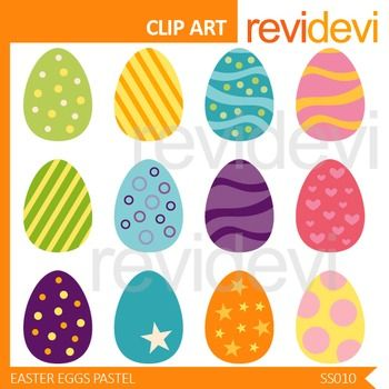 Pastel easter eggs clipart clipart royalty free Easter Eggs Clip art / Set of 12, pastel colors | Activities ... clipart royalty free