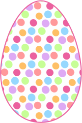Pastel easter eggs clipart image freeuse library Polka dot easter egg clipart - ClipartFest image freeuse library