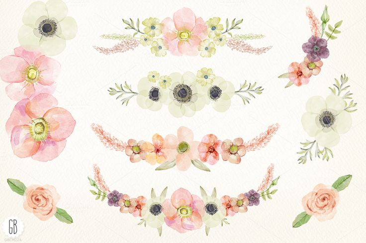 Pastel flowers clipart banner transparent download Watercolor pastel wreath juliet rose | Creative, Pastel and Clip art banner transparent download