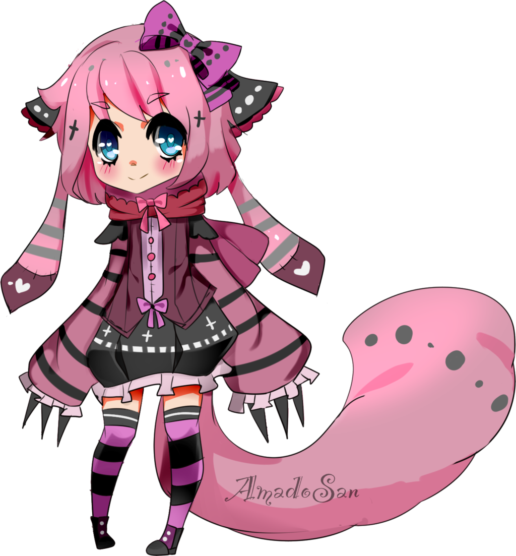 Pastel goth anime girl clipart clipart download Pastel goth Kemonimimi adoptable CLOSED by AS-Adoptables on ... clipart download