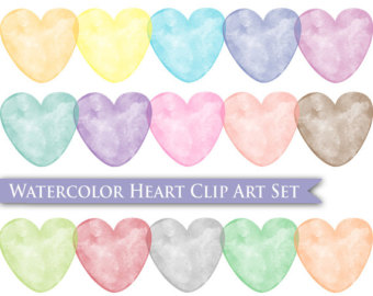 Pastel heart clipart clipart Pastel clipart color – Etsy clipart