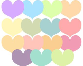 Pastel heart clipart transparent stock Pastel heart clipart - ClipartFest transparent stock