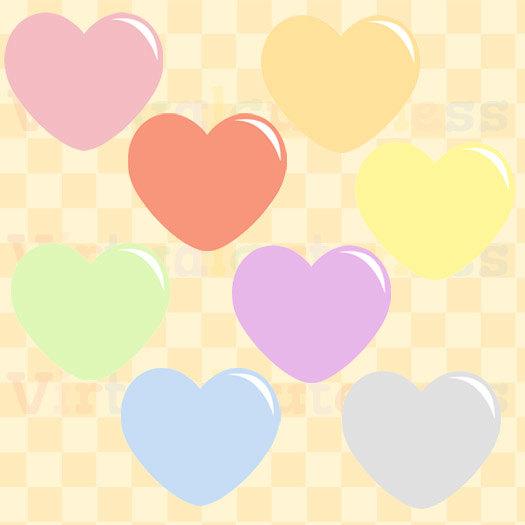 Pastel hearts clipart clip art download Pastel Hearts Clipart Love Planner Clipart Printable clip art download