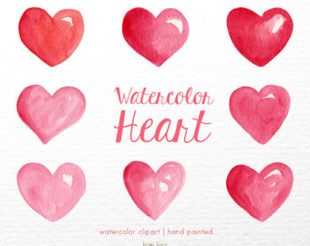 Pastel hearts clipart picture royalty free library Hearts clipart | Etsy picture royalty free library
