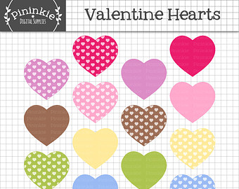 Pastel hearts clipart image royalty free download Scrapbook hearts – Etsy image royalty free download