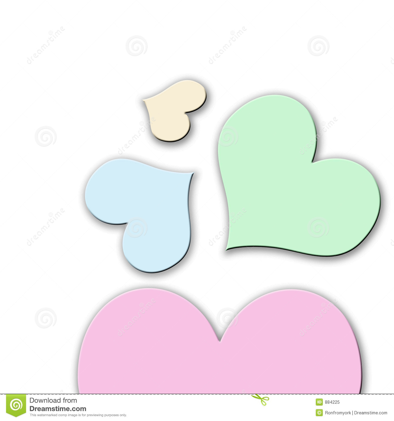 Pastel hearts clipart vector free stock Pastel Colored Hearts Royalty Free Stock Photo - Image: 884225 vector free stock