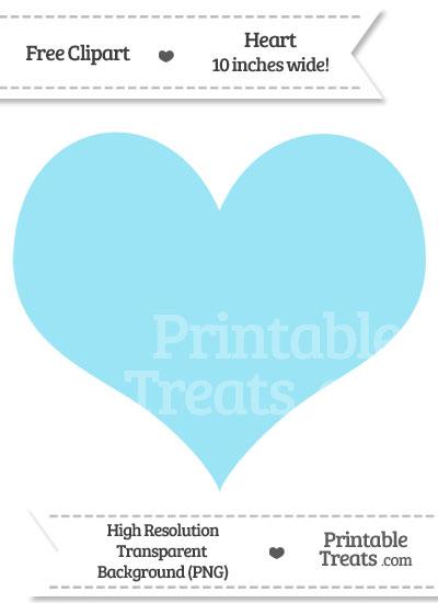 Pastel hearts clipart image library stock Pastel Aqua Blue Heart Clipart — Printable Treats.com image library stock