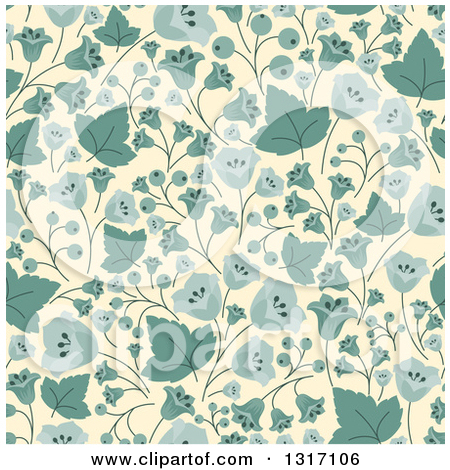 Pastel leaves background clipart clip art royalty free download Clipart of a Seamless Background Pattern of Vintage Blue ... clip art royalty free download