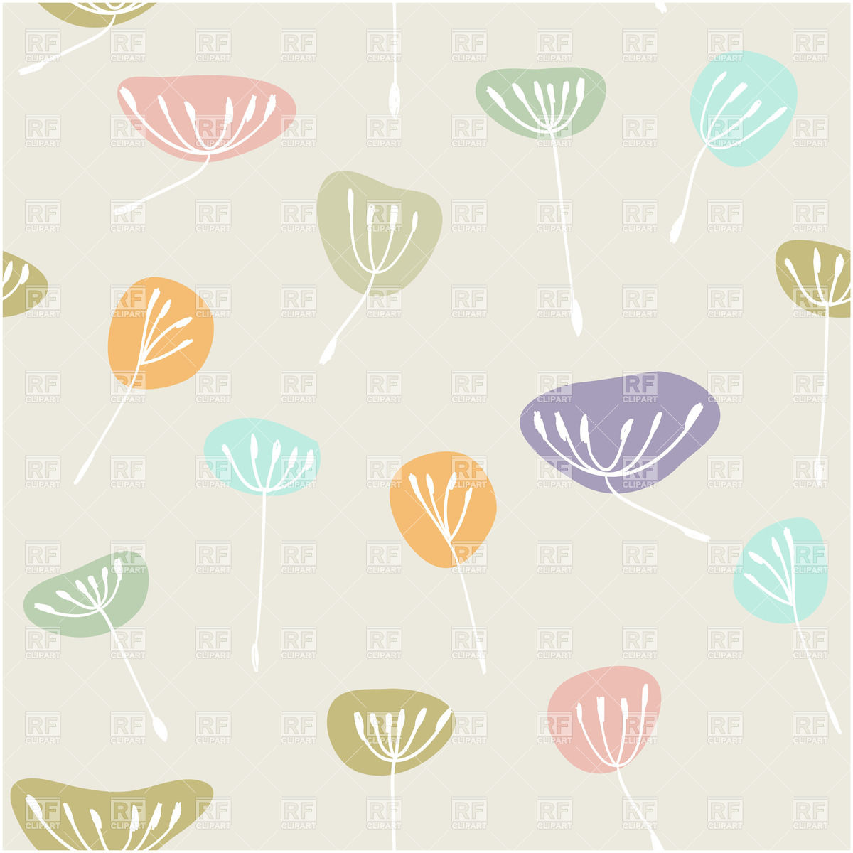 Pastel leaves background clipart clip royalty free library Seamless pastel background with fluff Vector Image #22617 – RFclipart clip royalty free library