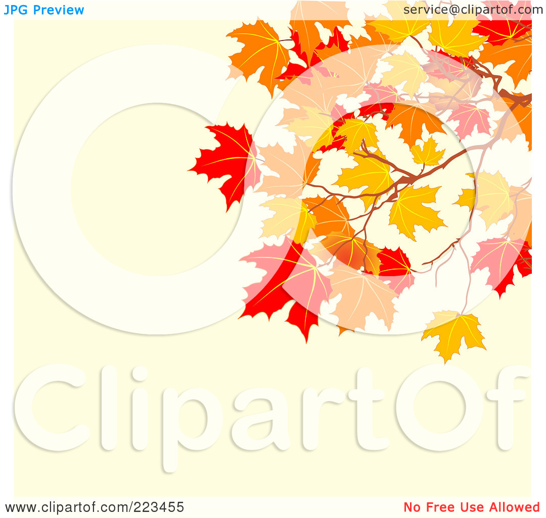 Pastel leaves background clipart clip royalty free stock Royalty-Free (RF) Clipart Illustration of a Background Of Autumn ... clip royalty free stock