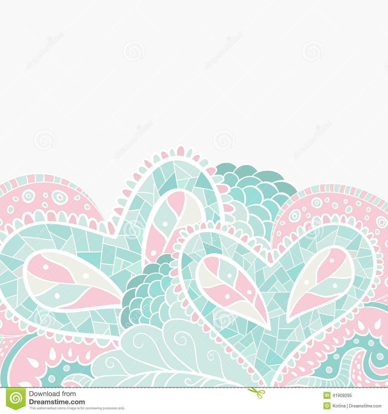 Pastel leaves background clipart svg Heart Floral Pastel Pattern, Background With Place Stock Vector ... svg
