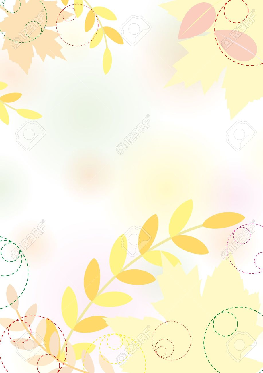 Pastel leaves background clipart graphic black and white library Pastel Autumn Background With Maple Leaves, Pastel Colors. Royalty ... graphic black and white library