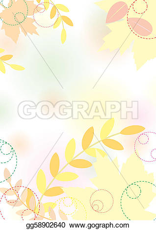 Pastel leaves background clipart png EPS Illustration - Pastel autumn background with maple leaves ... png