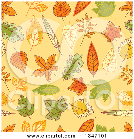 Pastel leaves background clipart image library stock Clipart Background Of Autumn Leaves With Copyspace 1 - Royalty ... image library stock